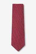 Bandon Burgundy Extra Long Tie Photo (1)