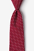 Burgundy Cotton Bandon Extra Long Tie