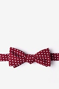 Burgundy Cotton Bandon Skinny Bow Tie