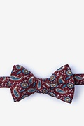 Burgundy Cotton Benz Butterfly Bow Tie