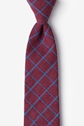 Burgundy Cotton Bisbee Extra Long Tie