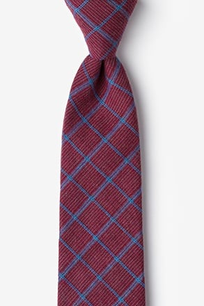 _Bisbee Burgundy Extra Long Tie_