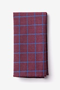 Burgundy Cotton Bisbee Pocket Square