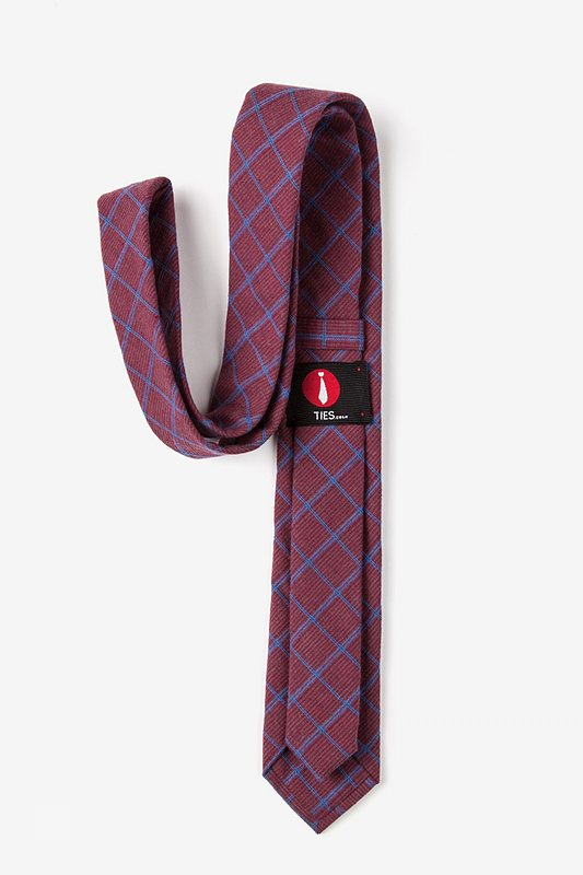 Bisbee Burgundy Skinny Tie Photo (2)