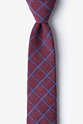 Burgundy Cotton Bisbee Skinny Tie