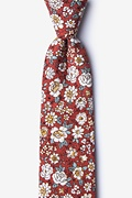 Burgundy Cotton Brook Extra Long Tie