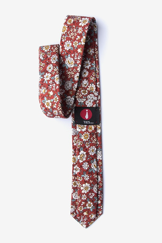 Brook Burgundy Skinny Tie