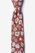 Burgundy Cotton Brook Skinny Tie