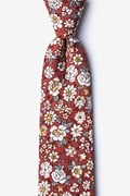 Burgundy Cotton Brook Tie