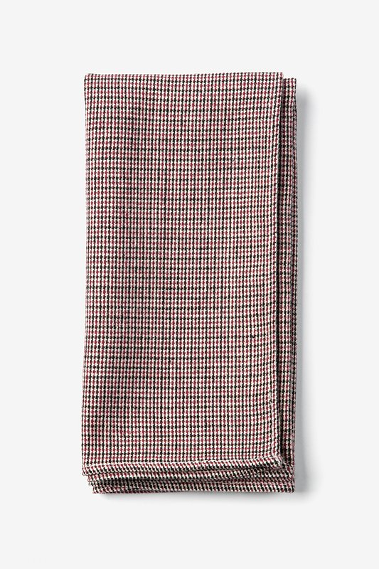 Burgundy Andrew Plaid Pocket Square