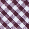 Burgundy Cotton Clayton Extra Long Tie