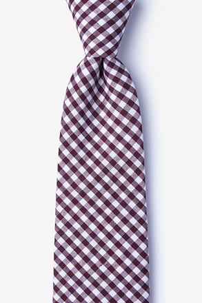 _Clayton Burgundy Extra Long Tie_