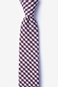 Burgundy Cotton Clayton Skinny Tie