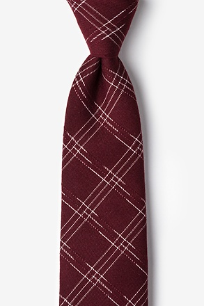 Escondido Burgundy Extra Long Tie