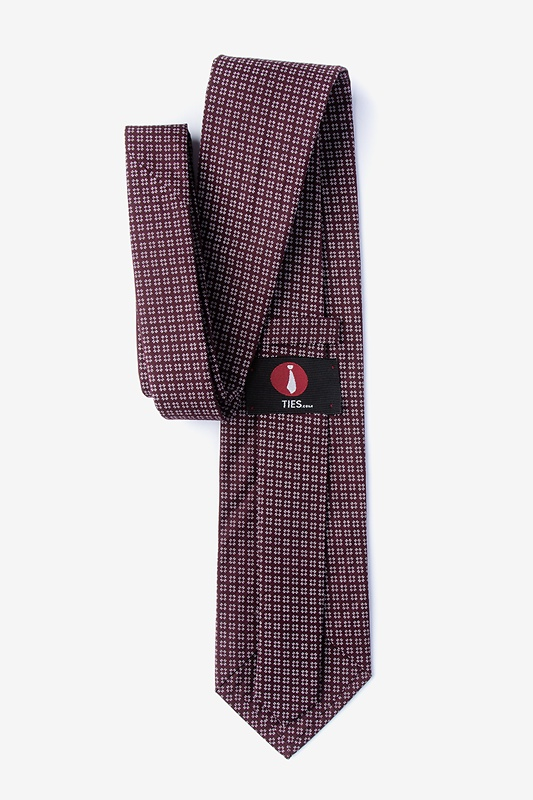 Fayette Burgundy Extra Long Tie Photo (1)