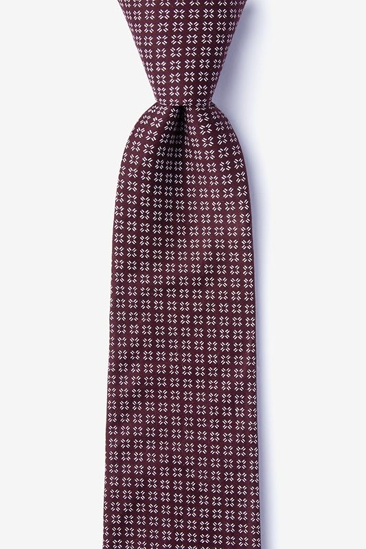Fayette Burgundy Extra Long Tie Photo (0)