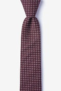 Burgundy Cotton Fayette Skinny Tie