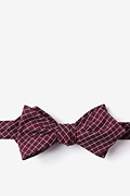 Burgundy Cotton Holbrook Diamond Tip Bow Tie