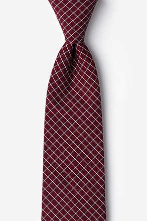 Holbrook Burgundy Extra Long Tie