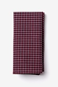 Burgundy Cotton Holbrook Pocket Square
