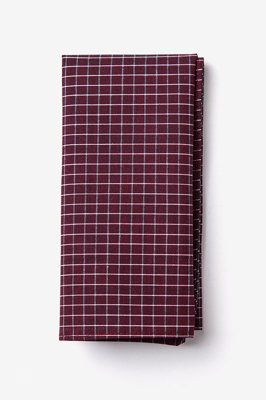 Holbrook Burgundy Pocket Square Photo (0)