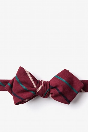 Houston Burgundy Diamond Tip Bow Tie
