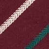 Burgundy Cotton Houston Extra Long Tie