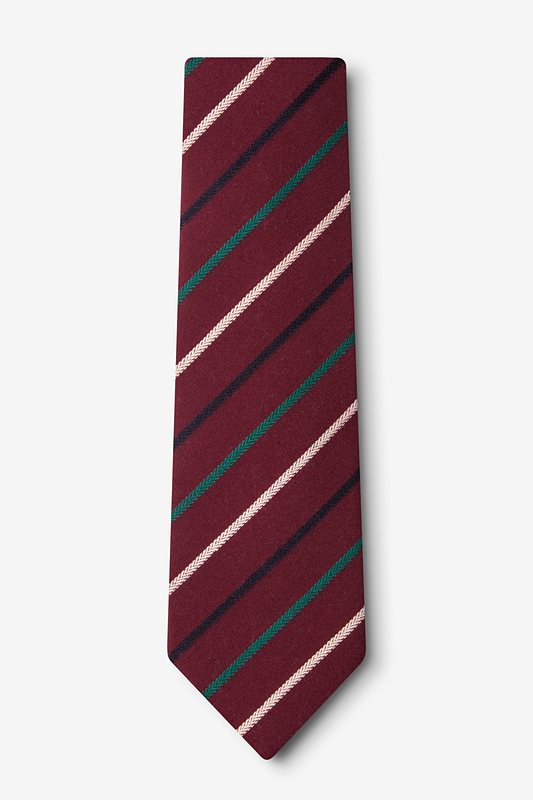 Houston Burgundy Extra Long Tie Photo (1)