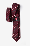 Houston Burgundy Extra Long Tie Photo (2)