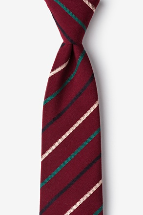 Houston Burgundy Extra Long Tie