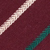 Burgundy Cotton Houston Skinny Tie