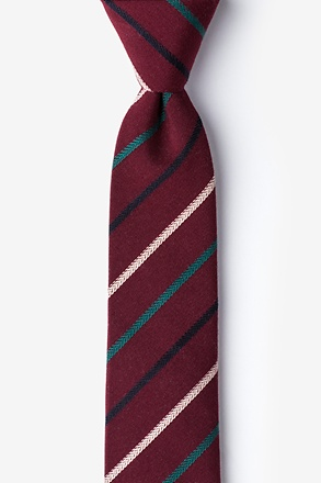 _Houston Burgundy Skinny Tie_