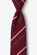 Burgundy Cotton Houston Tie