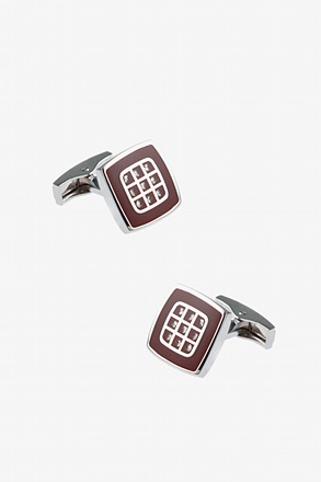 Checkered Square Cufflinks