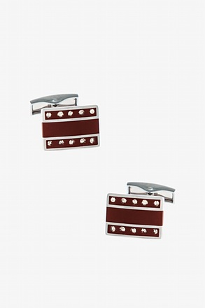 Decorated Rounded Bar Cufflinks