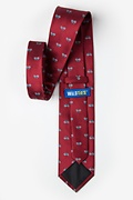 Bicycles Burgundy Extra Long Tie Photo (1)