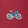 Burgundy Microfiber Bicycles Skinny Tie