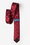 Bicycles Burgundy Skinny Tie Photo (1)