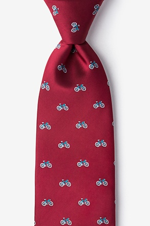 Bicycles Burgundy Tie
