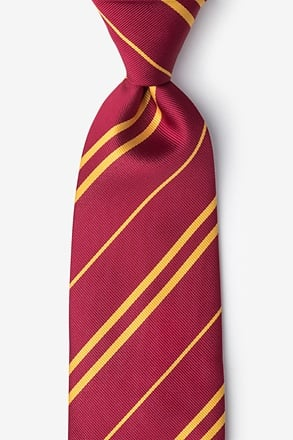 _Boarding School Burgundy Tie_
