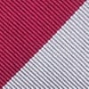 Burgundy Microfiber Burgundy & Gray Stripe Self-Tie Bow Tie