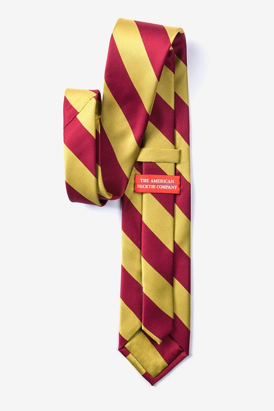 Burgundy & Gold Stripe Tie Photo (1)