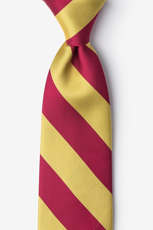 Burgundy & Gold Stripe Tie Photo (0)