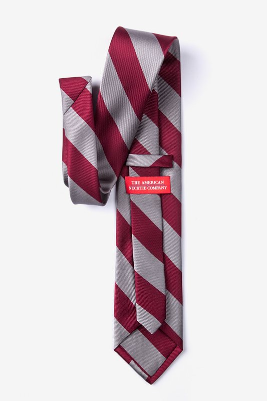 Burgundy & Gray Stripe Tie Photo (1)