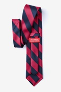 Burgundy & Navy Stripe Extra Long Tie Photo (1)