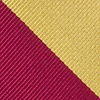 Burgundy Microfiber Burgundy And Gold Stripe Extra Long Tie