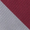 Burgundy Microfiber Burgundy And Gray Stripe Extra Long Tie
