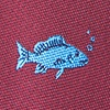 Burgundy Microfiber Fish Extra Long Tie