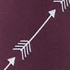 Burgundy Microfiber Flying Arrows Skinny Tie