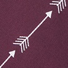 Burgundy Microfiber Flying Arrows Tie